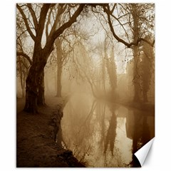 Misty Morning 8  X 10  Unframed Canvas Print