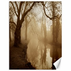 Misty Morning 12  X 16  Unframed Canvas Print