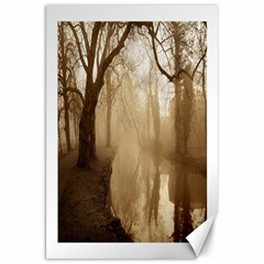 misty morning 20  x 30  Unframed Canvas Print