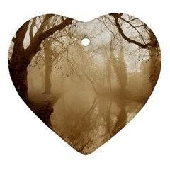 misty morning Heart Ornament (Two Sides)
