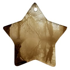 misty morning Twin-sided Ceramic Ornament (Star)