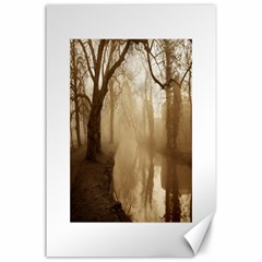 Misty Morning 24  X 36  Unframed Canvas Print
