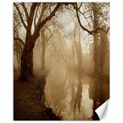 Misty Morning 11  X 14  Unframed Canvas Print