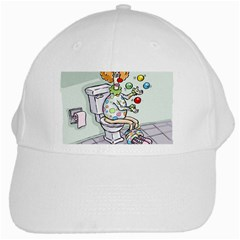 Multitasking Clown White Baseball Cap