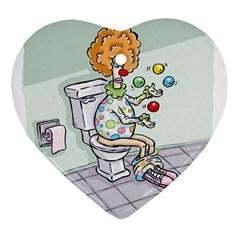 Multitasking Clown Ceramic Ornament (heart)
