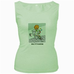 Multitasking Clown Green Womens  T-shirt