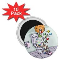 Multitasking Clown 10 Pack Small Magnet (Round)