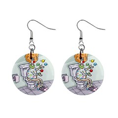 Multitasking Clown Mini Button Earrings