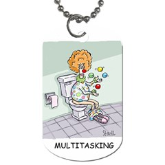 Multitasking Clown Twin-sided Dog Tag