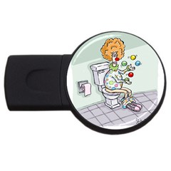 Multitasking Clown 2gb Usb Flash Drive (round)