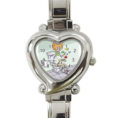 Multitasking Clown Classic Elegant Ladies Watch (Heart)