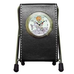 Multitasking Clown Stationery Holder Clock