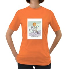Multitasking Clown Dark Colored Womens'' T-shirt