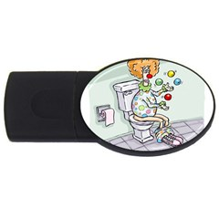 Multitasking Clown 4Gb USB Flash Drive (Oval)