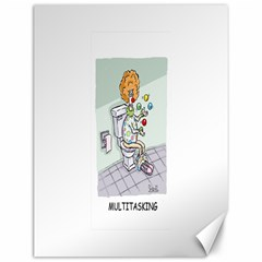 Multitasking Clown 12  x 16  Unframed Canvas Print