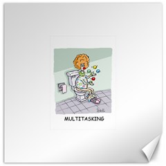 Multitasking Clown 16  X 16  Unframed Canvas Print