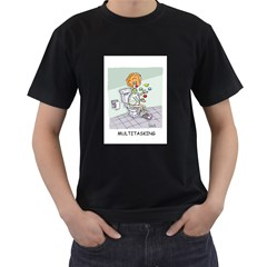 Multitasking Clown Black Mens'' T-shirt