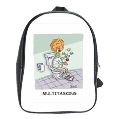 Multitasking Clown Large School Backpack