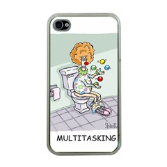 Multitasking Clown Apple iPhone 4 Case (Clear)