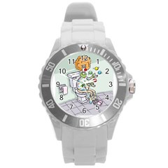 Multitasking Clown Round Plastic Sport Watch Large