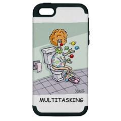 Multitasking Clown Apple iPhone 5 Hardshell Case (PC+Silicone)