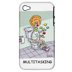 Multitasking Clown Apple Iphone 4/4s Hardshell Case (pc+silicone)