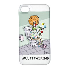 Multitasking Clown Apple Iphone 4/4s Hardshell Case With Stand