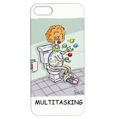 Multitasking Clown Apple Iphone 5 Hardshell Case With Stand