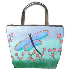 Dragonfly And Flowers Small Handbag