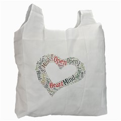 OpenMind.OpenHeart. Twin-sided Reusable Shopping Bag