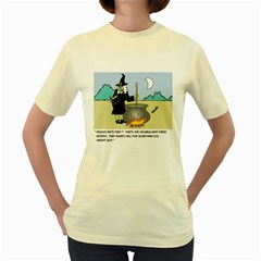 Witch s Recipe Yellow Womens  T-shirt