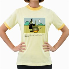 Witch s Recipe Colored Ringer Womens  T-shirt