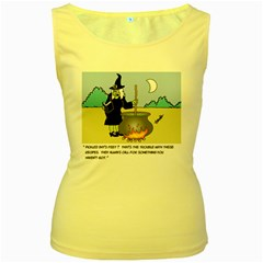Witch s Recipe Yellow Womens  Tank Top