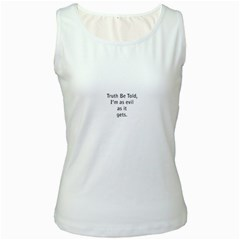 Truth Be Told White Womens  Tank Top