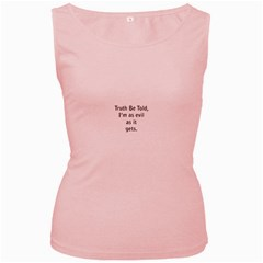 Truth Be Told Pink Womens  Tank Top