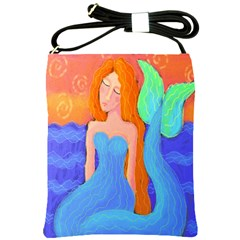 Sunset Mermaid Shoulder Bag Cross Shoulder Sling Bag