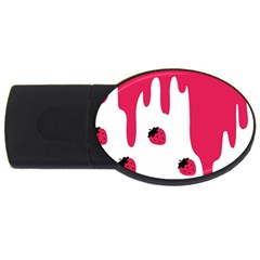 Melting Strawberry 4Gb USB Flash Drive (Oval)