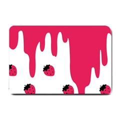 Melting Strawberry Small Door Mat