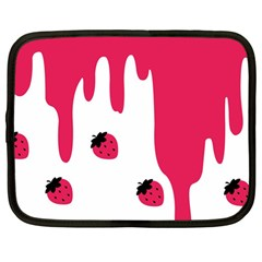Melting Strawberry 12  Netbook Case