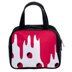 Melting Strawberry Twin-sided Satchel Handbag