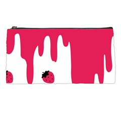 Melting Strawberry Pencil Case