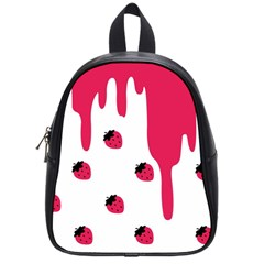 Melting Strawberry Small School Backpack