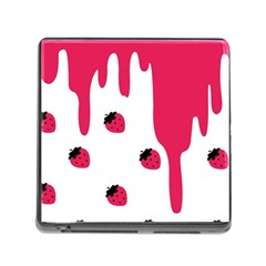 Melting Strawberry Card Reader With Storage (square)