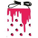 Melting Strawberry Cross Shoulder Sling Bag Front