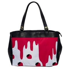 Melting Strawberry Single-sided Oversized Handbag