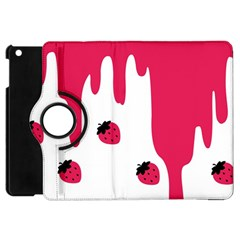 Melting Strawberry Apple iPad Mini Flip 360 Case