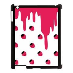 Melting Strawberry Apple Ipad 3/4 Case (black)