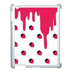 Melting Strawberry Apple Ipad 3/4 Case (white)