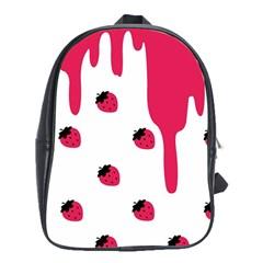 Melting Strawberry School Bag (XL)
