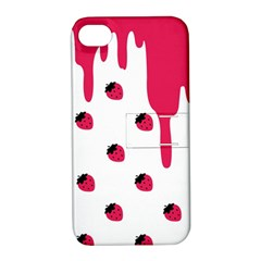 Melting Strawberry Apple iPhone 4/4S Hardshell Case with Stand